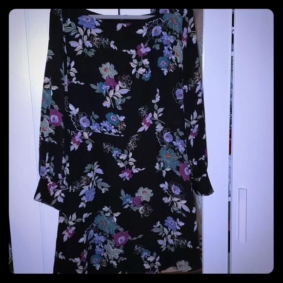 bae39fa375f Winter garden square neck flare dress. NWT. LOFT